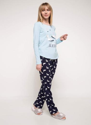 DeFacto Pijama Takım Lacivert